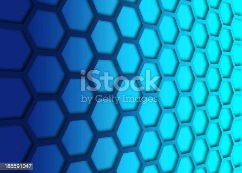 1176496357 istock photo recurrent hexagonal wallpaper, background. 185591047
