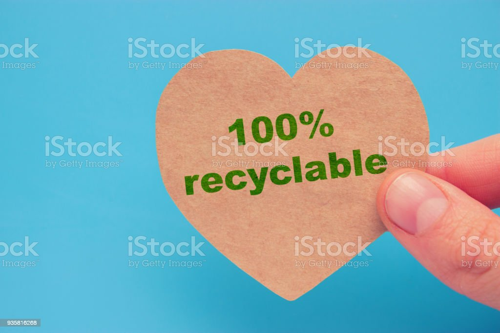 100% Recycable concept stock photo