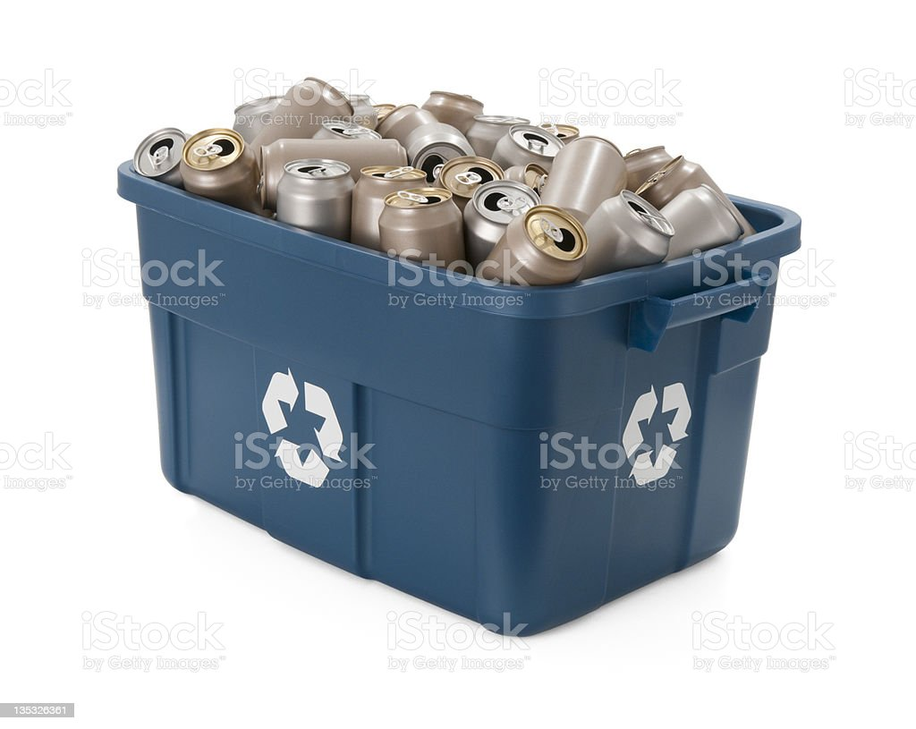 Recycle Aluminum Cans royalty-free stock photo