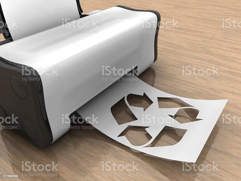 Recycling und Vernichtung von Natur – Foto