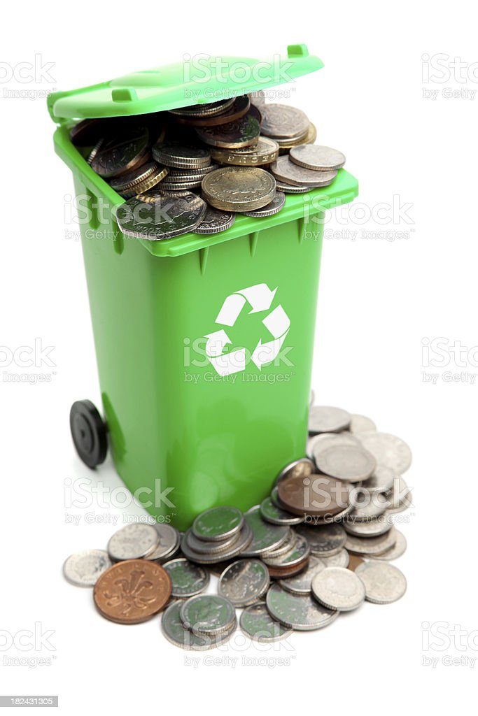 Recycle and save royalty-free stock photo