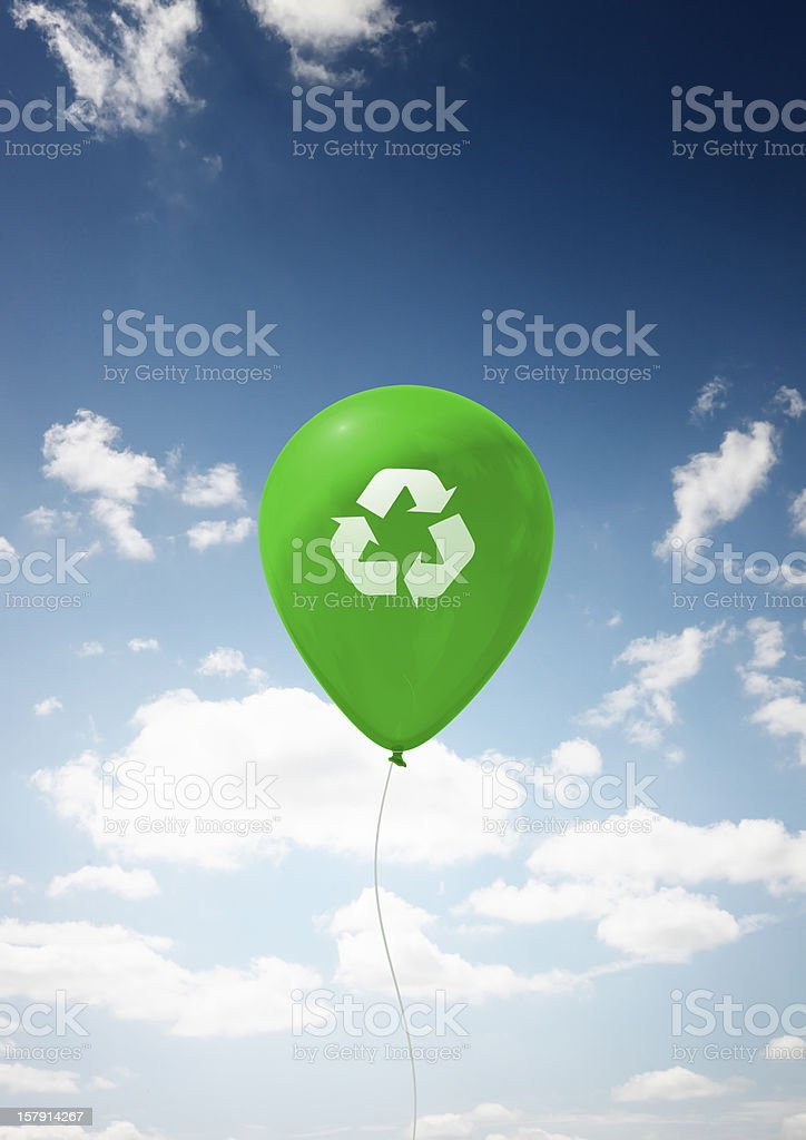 Recycle Balloon stock photo