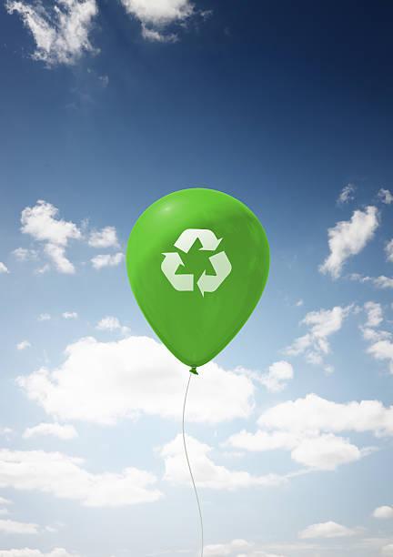 Recycle Balloon stock photo