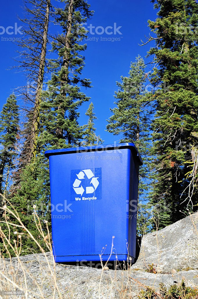 Recycle Bin And Clean Environment royalty-free stock photo