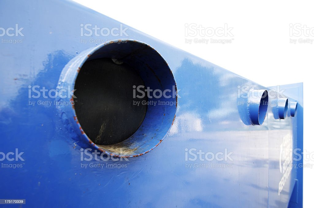 Recycle Bin For Bottles And Cans royalty-free stock photo