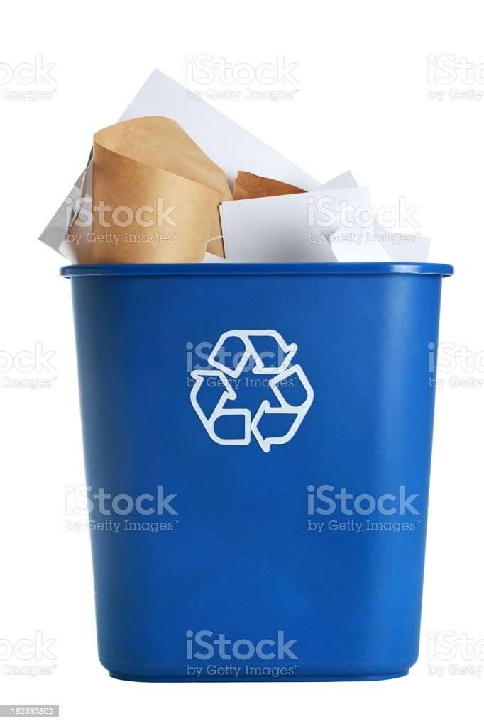 Recycle Bin royalty-free stock photo