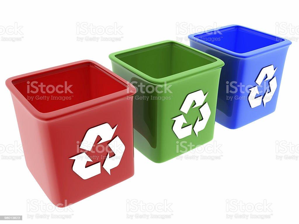 Lixeira reciclagem foto royalty-free