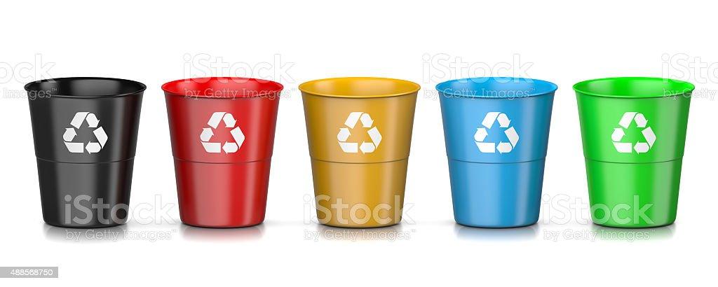 Recycle Bin Set stock photo