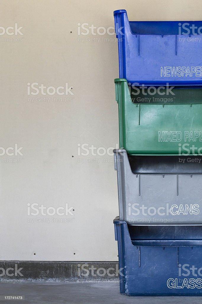 Recycle Bins II royalty-free stock photo