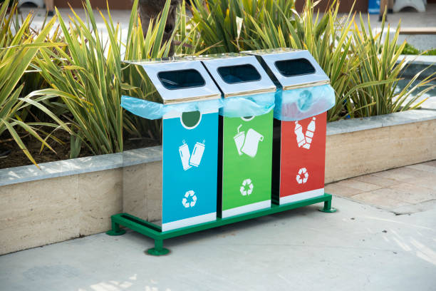 recycle bins - recycling bin stock photos and pictures