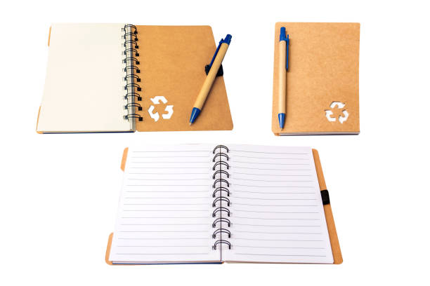 recycle blank notebook isolate on white background. stock photo