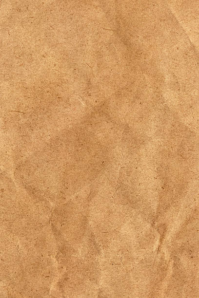 Recycle Brown Paper Crumpled Grunge Texture stock photo