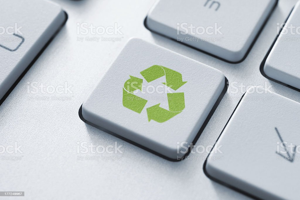 Recycle Button On Keyboard royalty-free stock photo