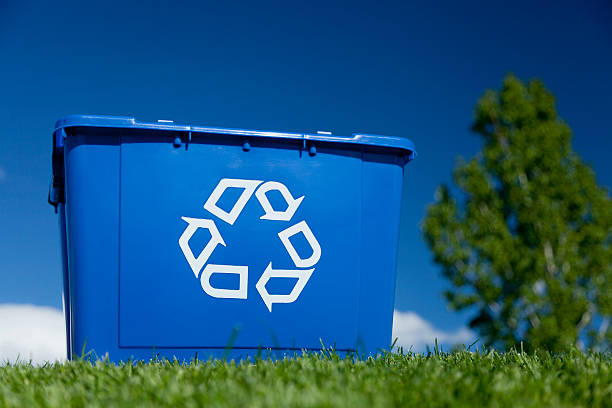 recycle concept - recycling bin stock photos and pictures