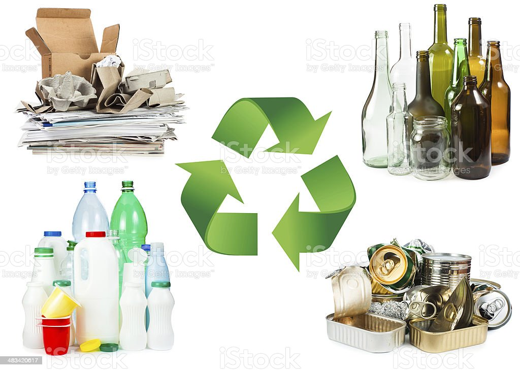 Concepto de reciclaje foto de stock libre de derechos