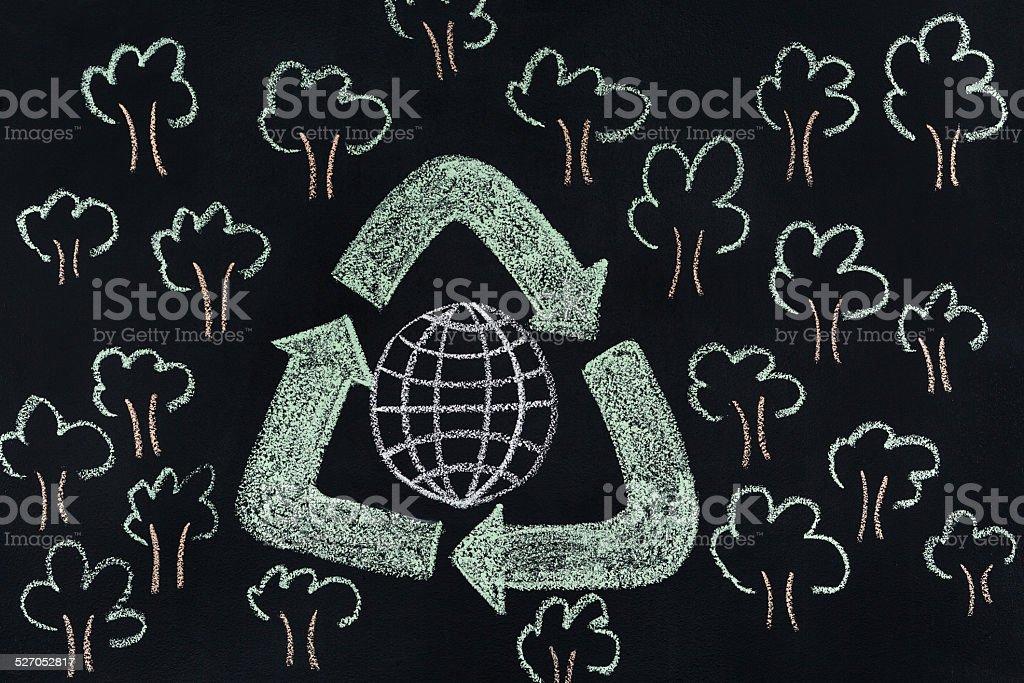 Recycle concept stock photo