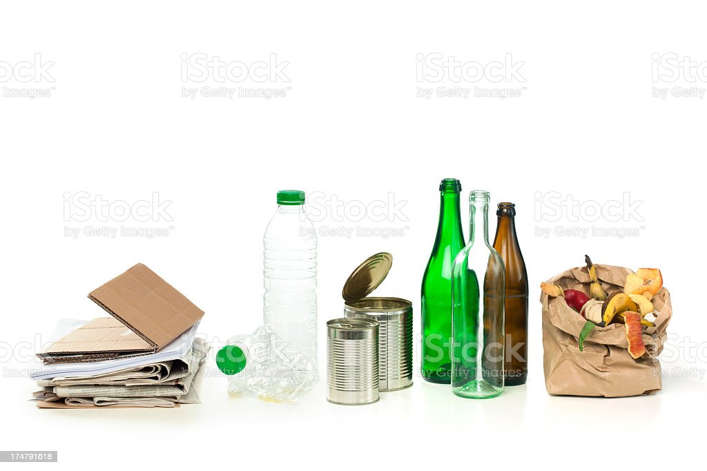 Recycle Concept Series - Group of Materials stock photo