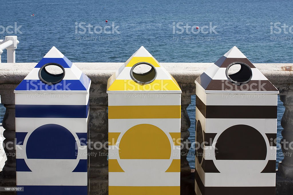 recycle dumpsters royalty-free stock photo