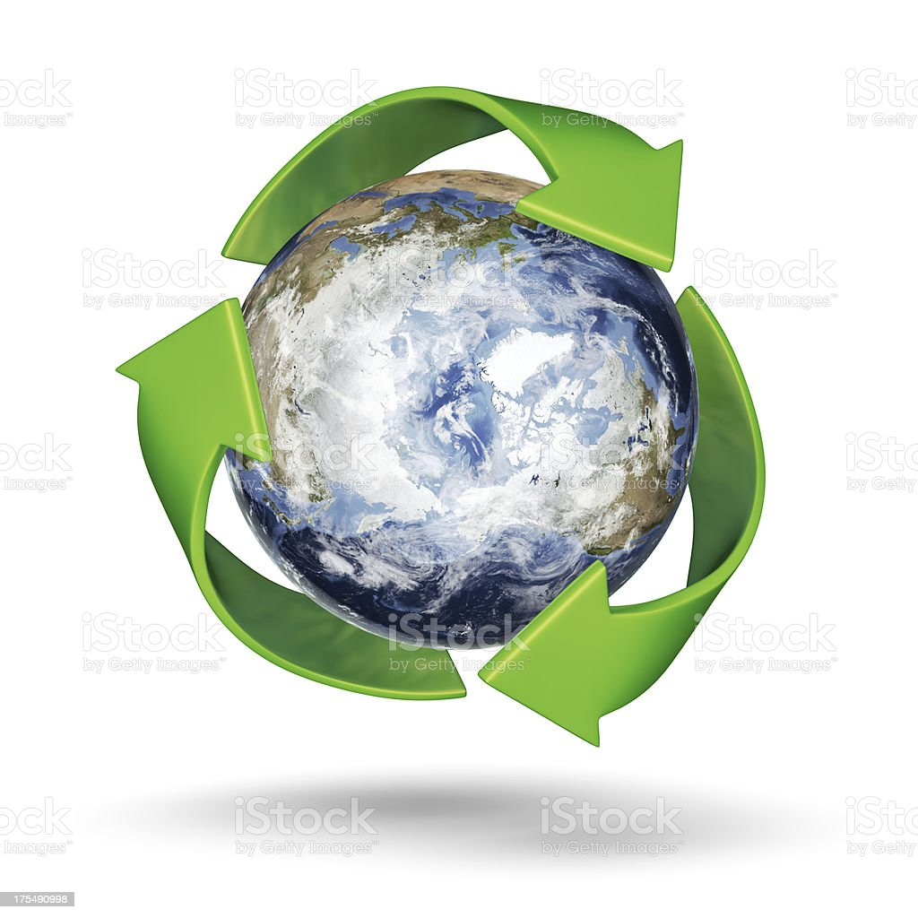 Recycle Earth - Arctic Northern Hemisphere royalty-free stock photo