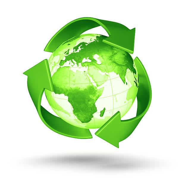 Recycling Erde-europäischen Eastern Hemisphere – Foto