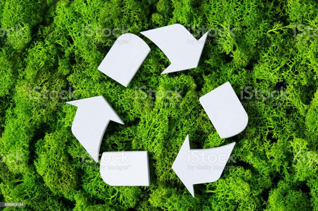 Recycle eco symbol stock photo