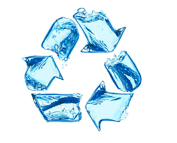 recycle for clean water - recycling symbol stock photos and pictures
