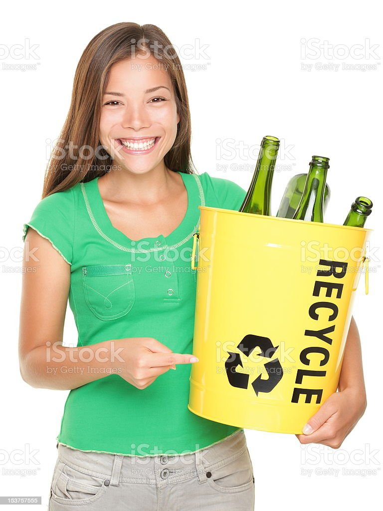Recycle girl royalty-free stock photo
