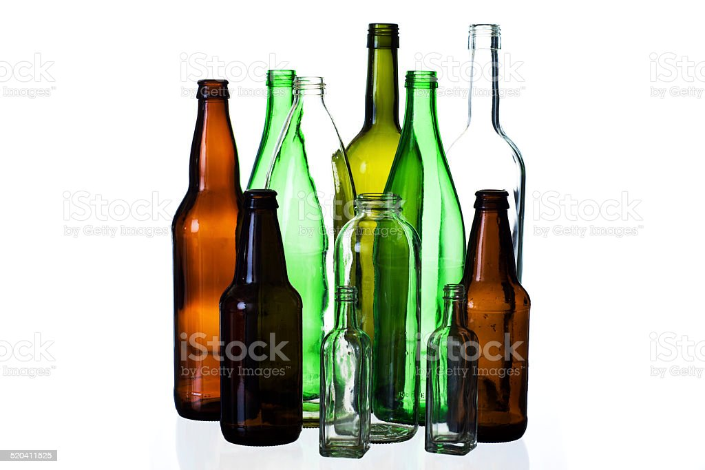 Recycle Glass Bottles stock photo
