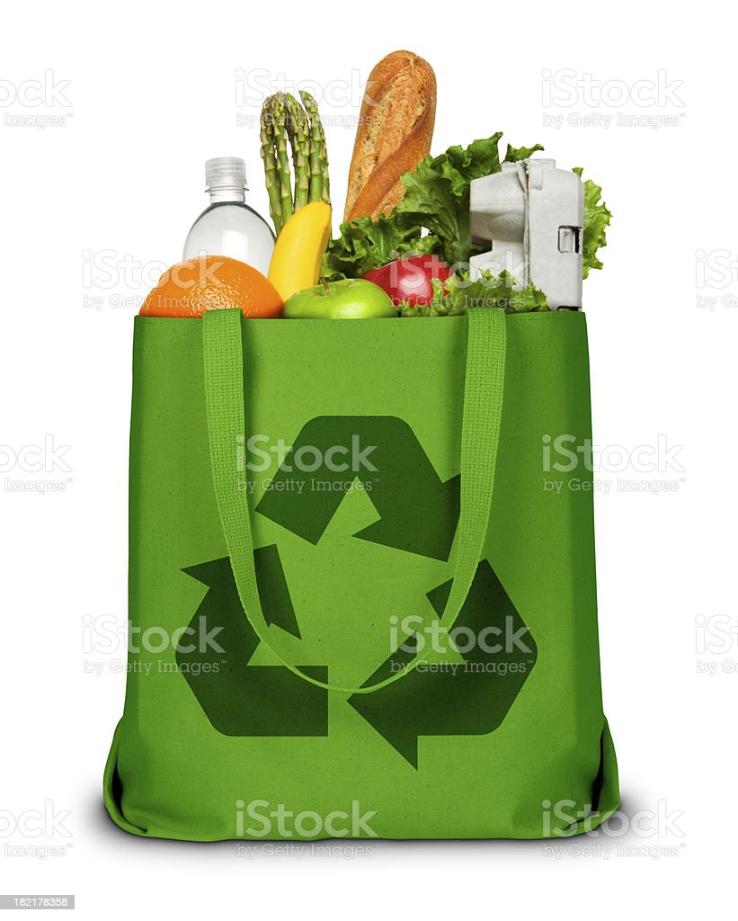 Recycle Grocery Bag stock photo