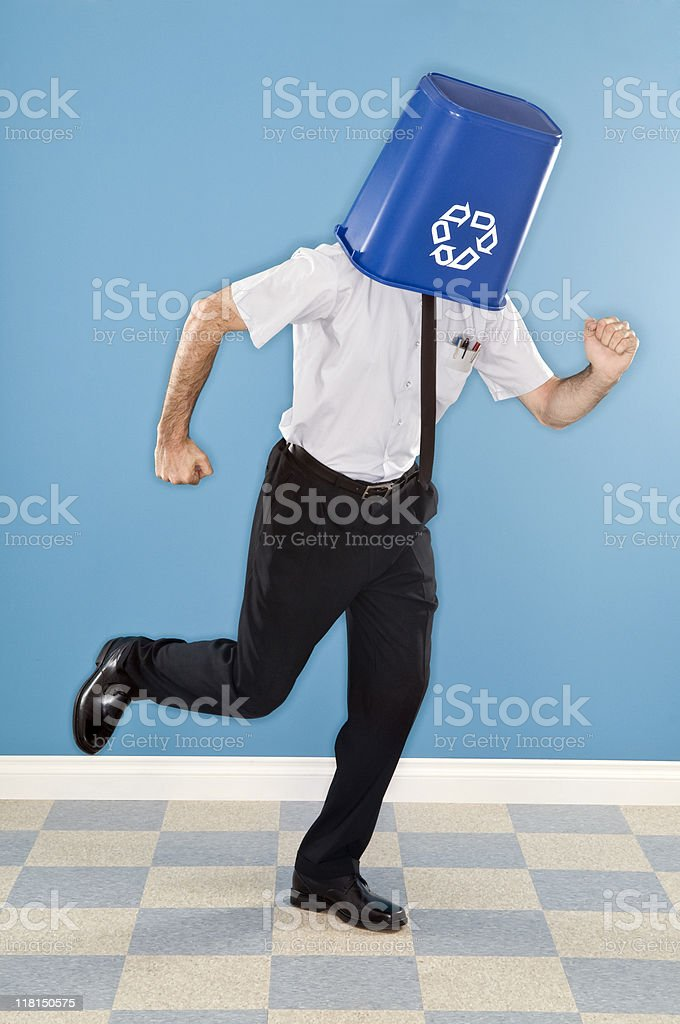 Recycle Man royalty-free stock photo