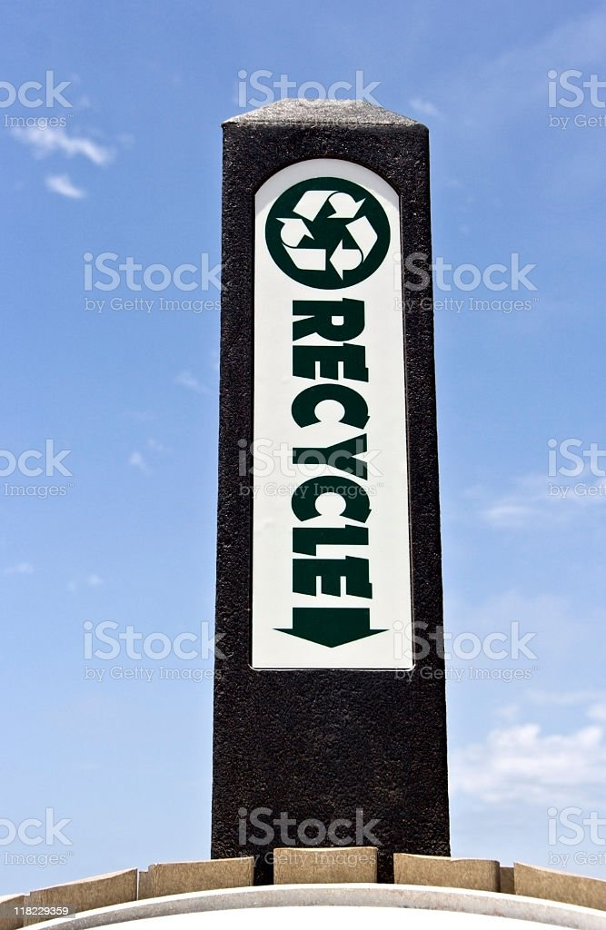 Recycle Monolith royalty-free stock photo