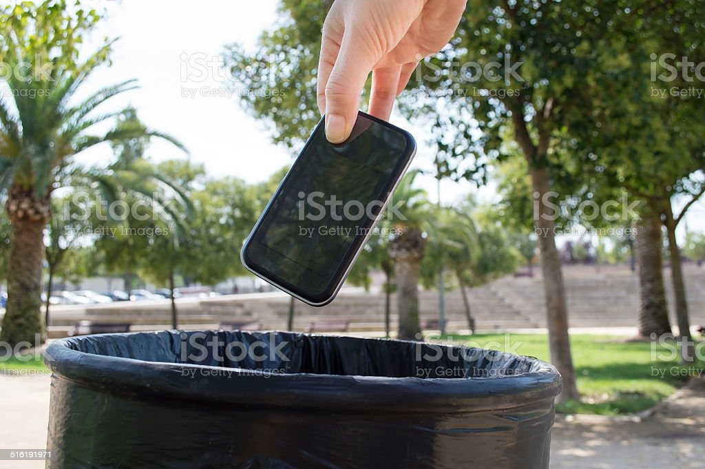 recycle my mobile stock photo