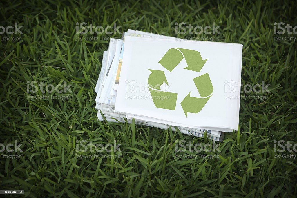 Recycle Newspapers stock photo