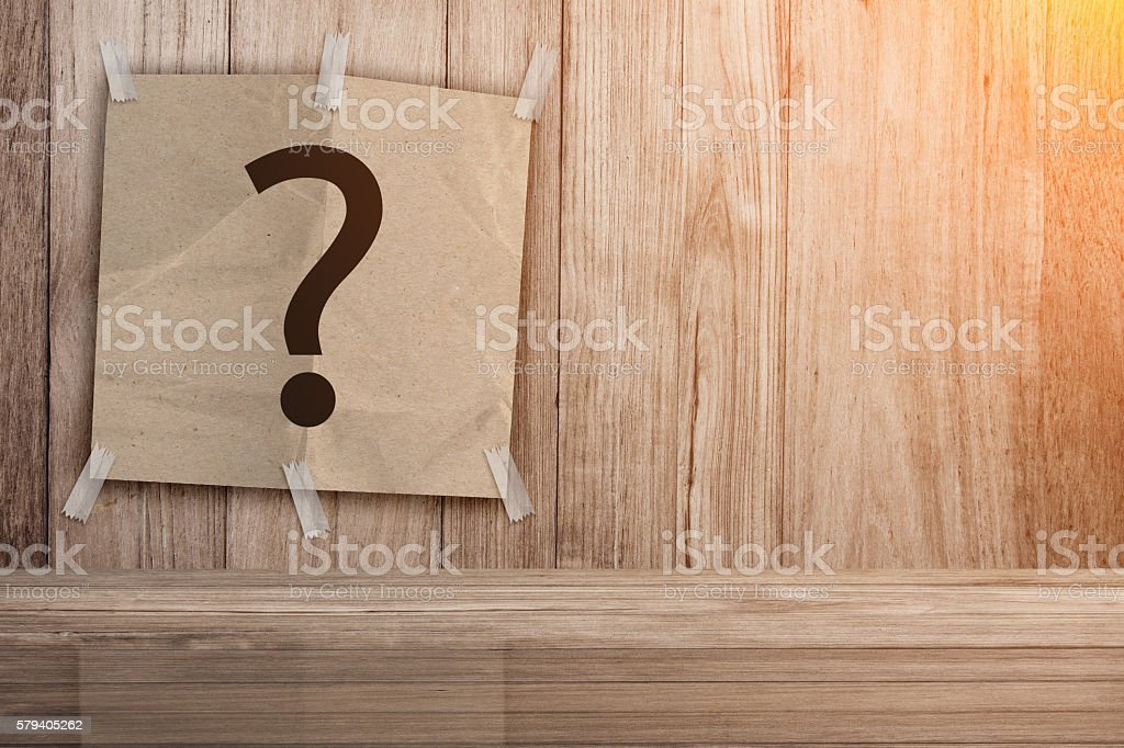 recycle paper pad with question mark symbol stock photo