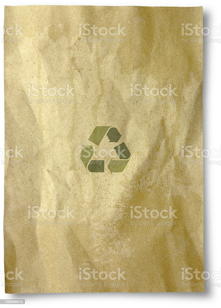 recycle paper royalty-free stock photo