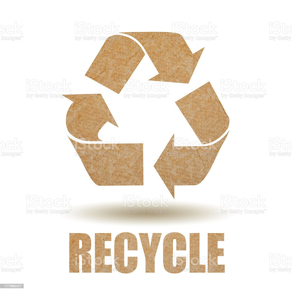 Recycle paper symbol royalty-free stock photo