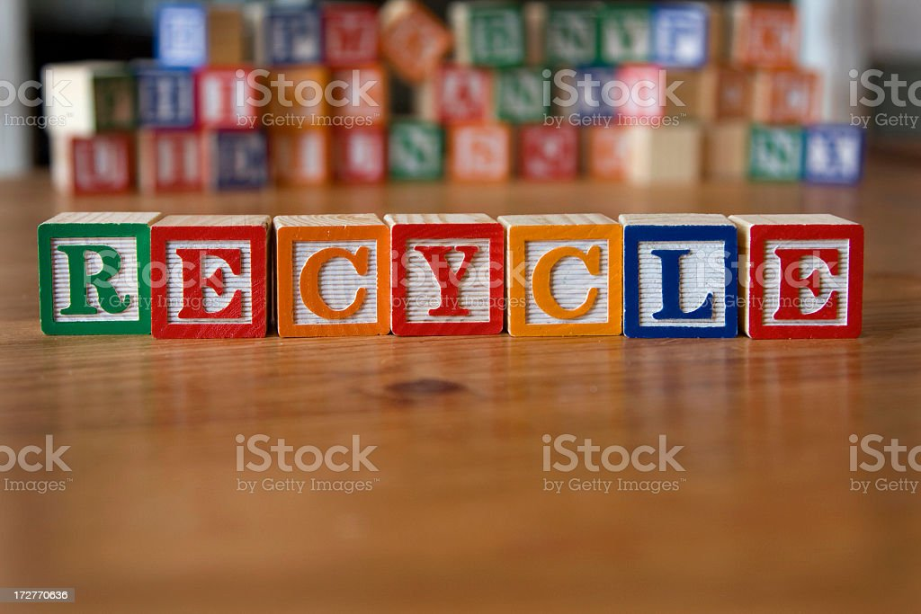 recycle (also see tinted version) royalty-free stock photo