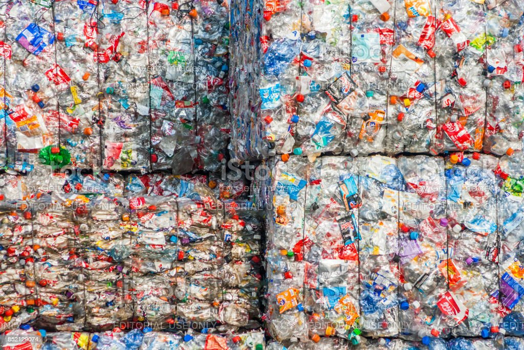 Recycle plant stock photo
