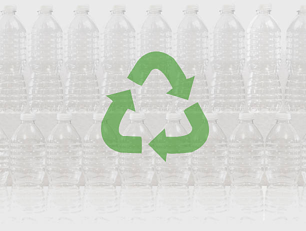 recycle plastic bottles to help keep the planet clean - bioremediation stock photos and pictures