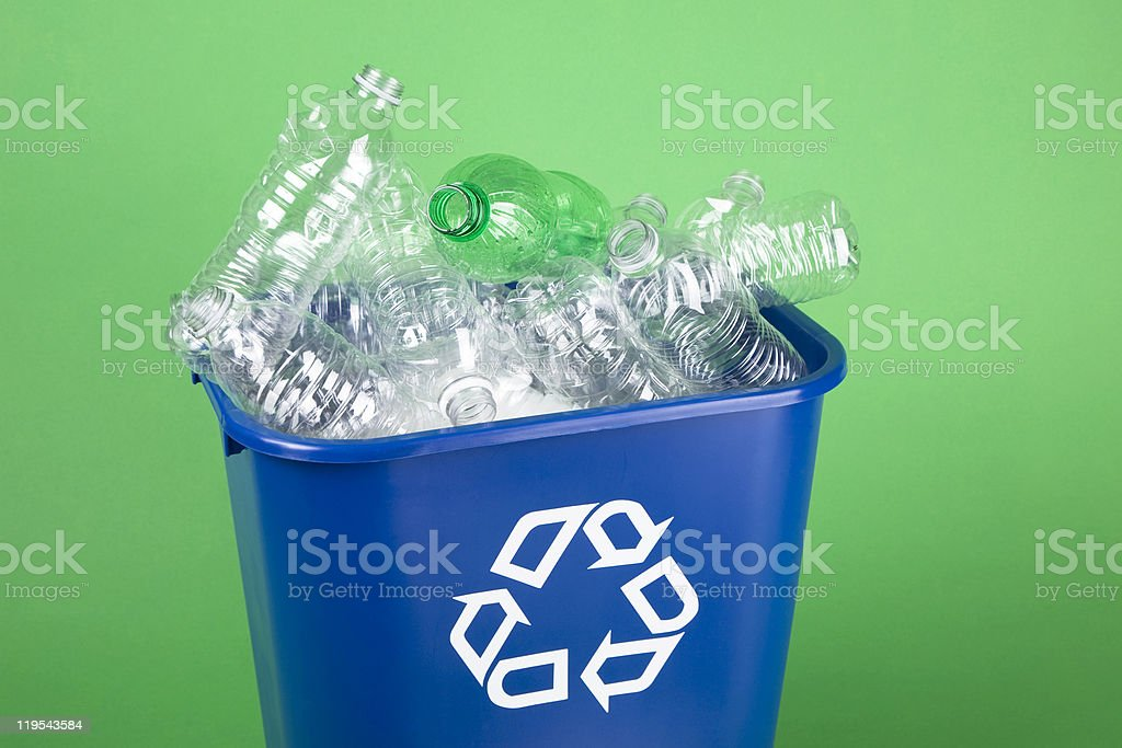 Recycle plastic water bottles royalty-free stock photo