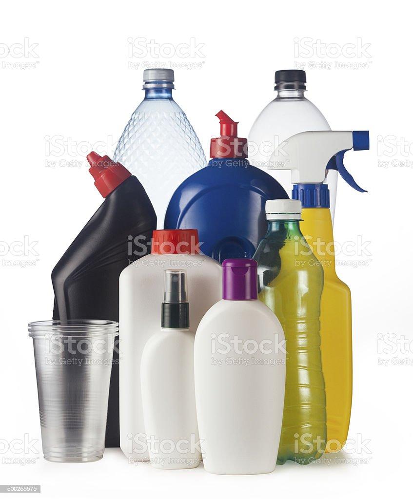 Recycle plastics stock photo