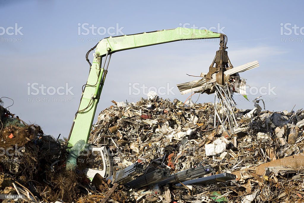 Recycle Scrap Metal royalty-free stock photo