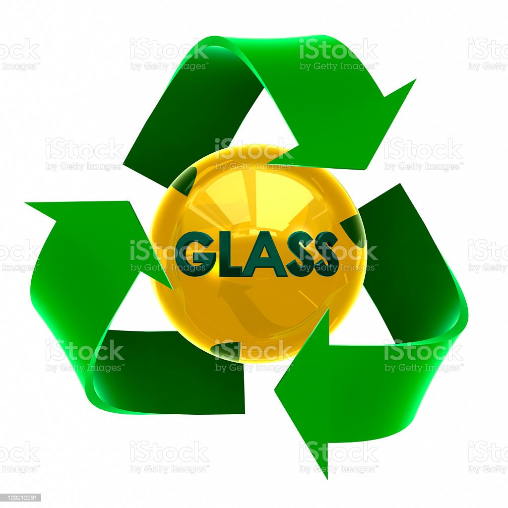 Recycle sign: Glass royalty-free stock photo