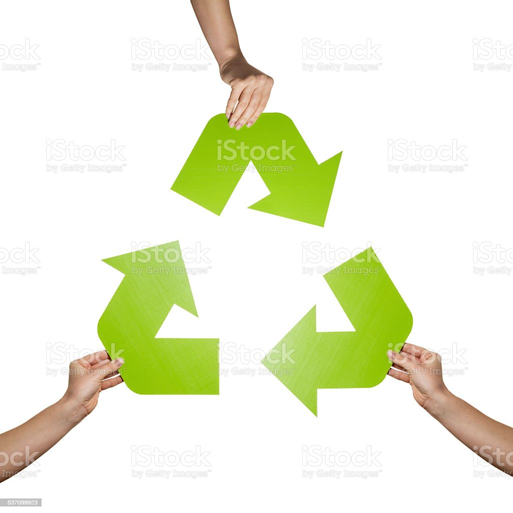 Recycle sign stock photo