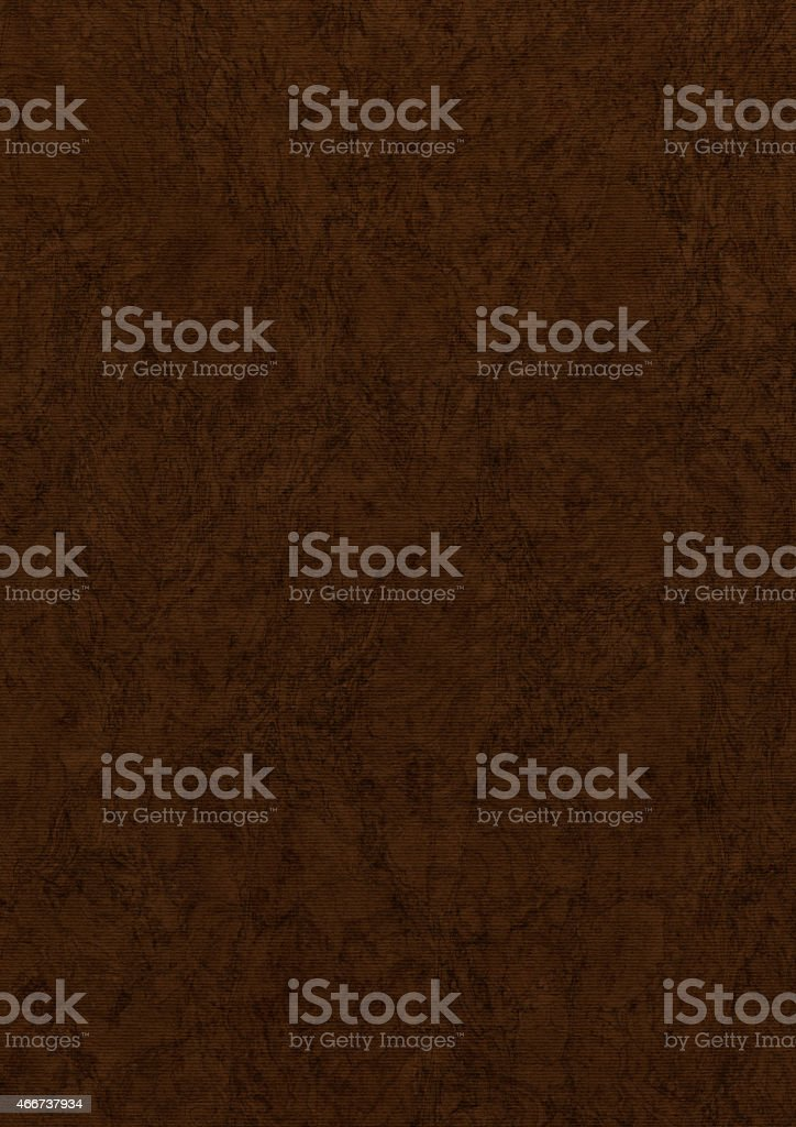 Recycle Striped Umber Brown Pastel Paper Coarse Mottled Grunge Texture stock photo