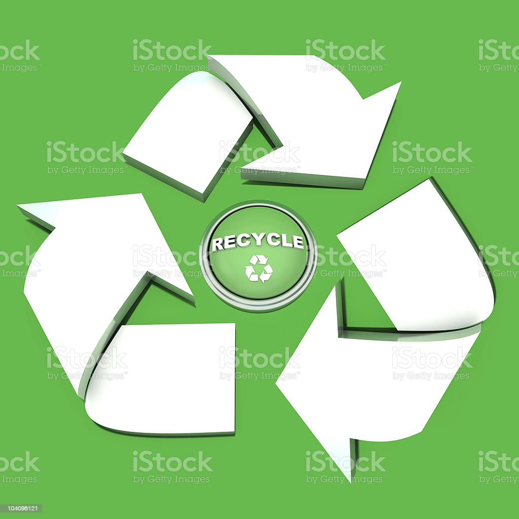 Recycle symbol and button royalty-free stock photo