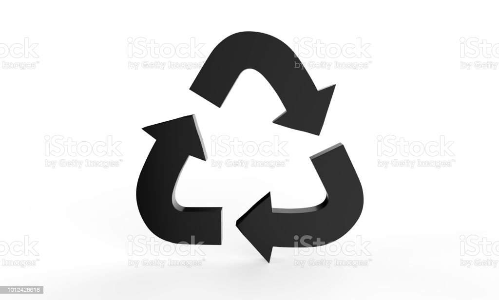 Recycle Symbol Sign Of Conservation Icon 3d Illustration Stock Photo