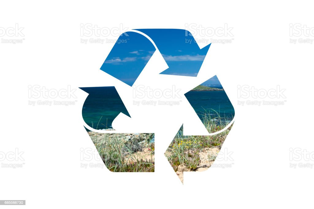 回收利用具有裁剪路徑的符號 免版稅 stock photo