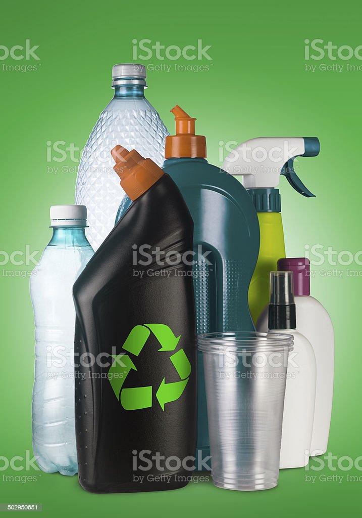 Recycle the plastics stock photo