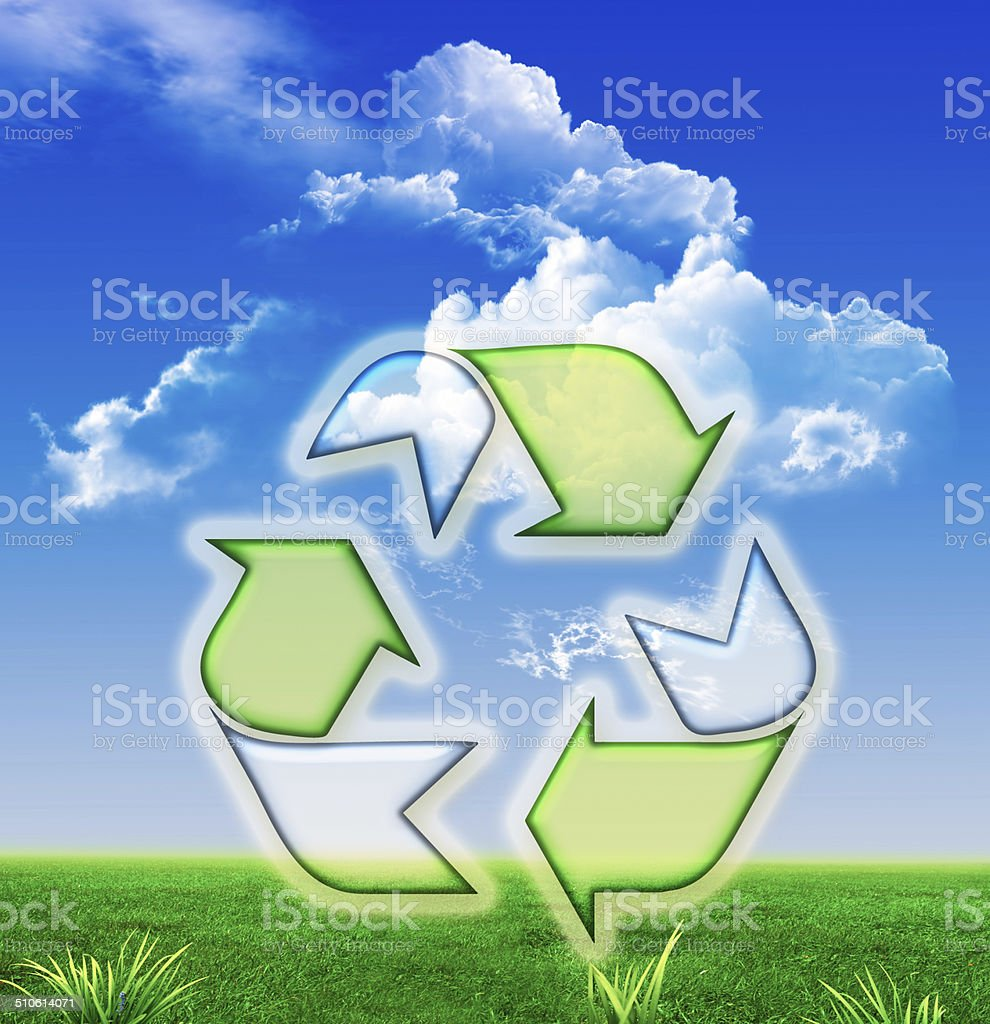 Recycle Three Arrows stock photo